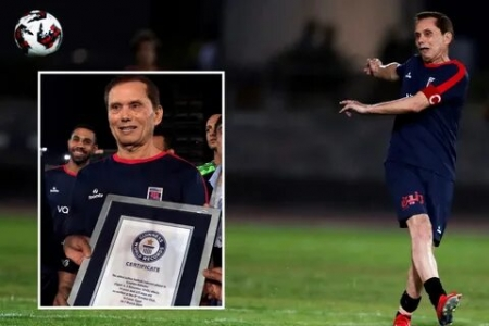 A 74-years-old Egyptian recognized as the world's oldest football player
