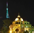 Tbilisi TV tower to be lit in colours of Turkmen flag for two days