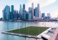 Floating field in Singapore